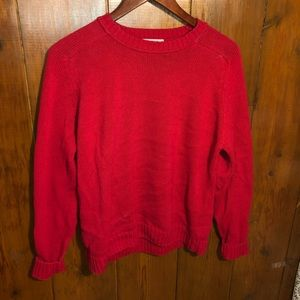 Vintage Chunky Red Sweater